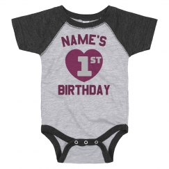 Custom Name First Birthday Tee