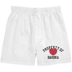 Property of Barbra Boxer Shorts