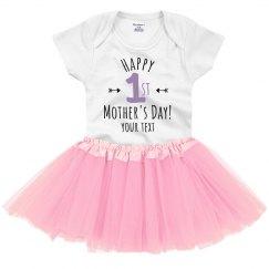 Custom First Mother's Day Onesie