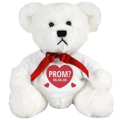 Custom Date Will You Go to Prom Bear