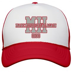 MH SNAPBACK (Make Music Great Again) RED/SILVER