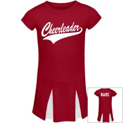 Red Toddler Cheer dress