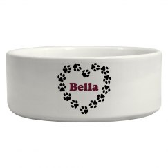 Heart of Paws Pet Bowl
