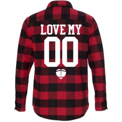Custom Football Girlfriend Fall Fashion Flannel!