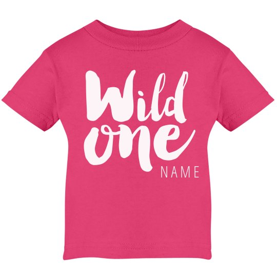 Wild One 1st Birthday Infant Cotton T Shirt