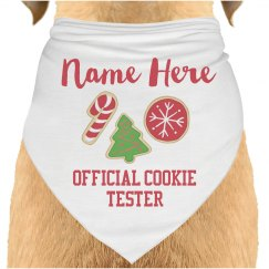 Official Cookie Tester Dog Bandana