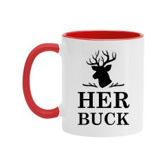 Her Buck Color Couples Coffee Mug