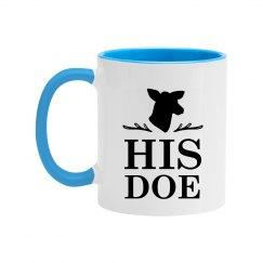 His Doe Color Couples Coffee Mug
