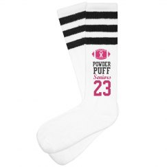 Powderpuff FootBall Breast Cancer Charity Game Socks