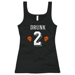 Halloween Drunk Two BFF Tanks