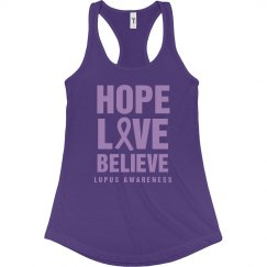 Lupus Awareness Hope Love Believe