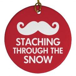 Staching Through The Snow