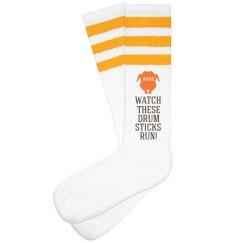 Funny Turkey Trot Custom Socks