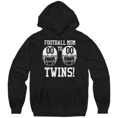 Football Mom to Football Twins Fleece Hoodie