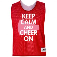Keep Calm Cheer Pinnie