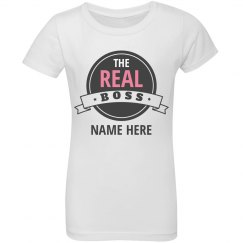 Daddy Daughter Real Boss Tee