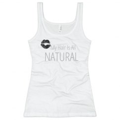 My Hair Is All NATURAL- Junior Tank Top