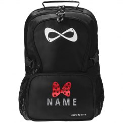 Custom Red Metallic Cheer Backpack