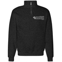CAR Unisex Cadet Collar Sweatshirt BLACK HEATHER