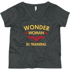 Wonder Woman in Training Plus Tee