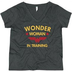 Wonder Woman in Training Plus Tee