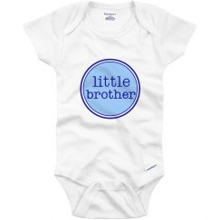 Little Brother Onesie Blue Navy