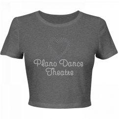 PDT Rhinestone Heart Shirt