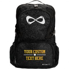 Custom Glitter Text Cheer Backpack