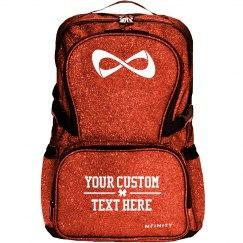 Custom Glitter Text Cheer Backpack