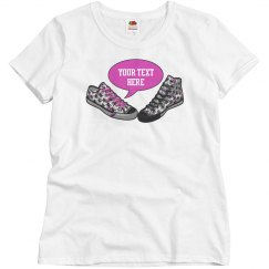 Talking Shoes Pink + Your Text