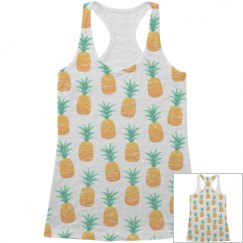 All Over Print Pineapple Tank Top
