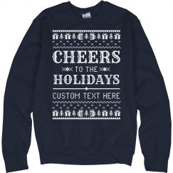Custom Ugly Holiday Sweater Alcohol