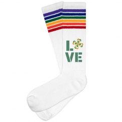 Love St Patricks Day, Socks