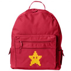 Golden Glitter Star Back Pack
