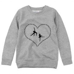 I Love The Dance Works Youth Sweatshirt