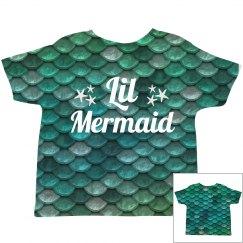 Cute Lil' Mermaid All Over Print