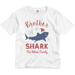 Brother Shark Matching Family Christmas Custom Shirts