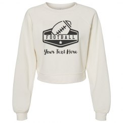 Custom Text Football Sweater
