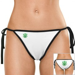 GB Green Leaf Bikini Bottom