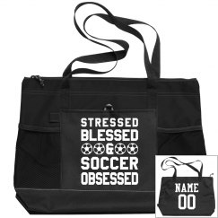 Blessed Soccer Mom Custom Bag