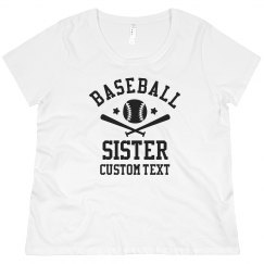 Custom Baseball Sister for Life