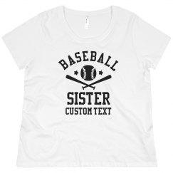 Custom Baseball Sister for Life