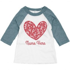 Valentine's Day Toddler Heart & Custom Name