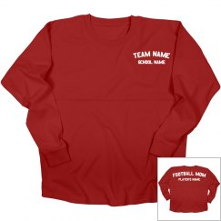 Customizable Football Mom Design