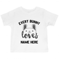 Custom Cute Easter Girls Tee