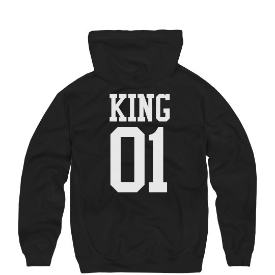 873d3e21ffc Matching King   Queen Hoodies 1 Unisex Ultimate Cotton Heavyweight Hoodie