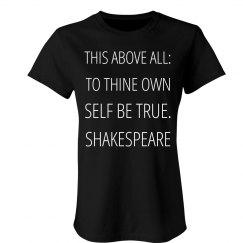 Self Be True Quote