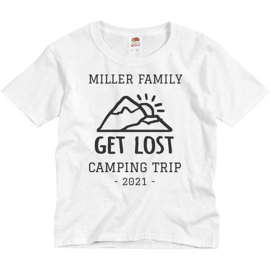 0bd6d9fe7 Custom Family Vacation Camping Trip Youth Basic Promo T-Shirt