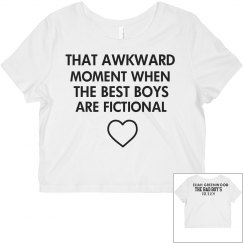 THAT AWKWARD MOMENT white crop top