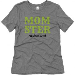 Mom-ster the Monster Funny Halloween Tee